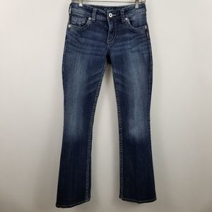 Silver Suki Boot Cut Womens Dark Wash Blue Jeans